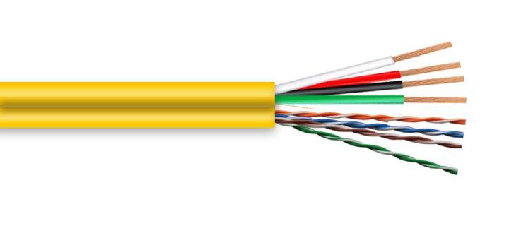 9557 24/ 4PR Cat 5e + 16/4 STR Audio Cable Siamese CMR/CL2R