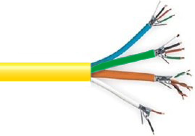 9898 - Shielded Overall Jacket CL3P Plenum Rated Access Control Cable