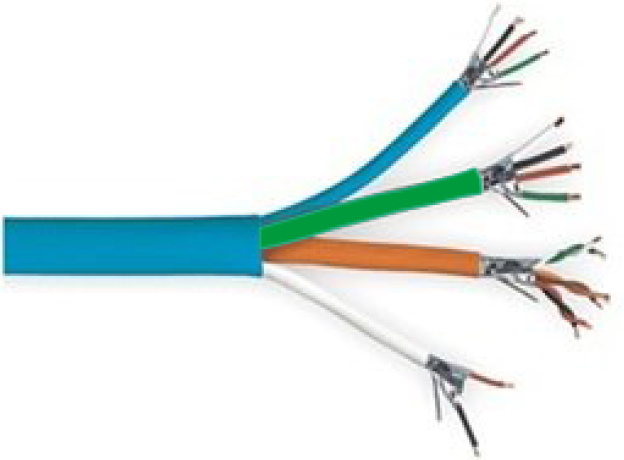 9887 - Standard Overall Jacketed CL3R Riser Rated Access Control Cable