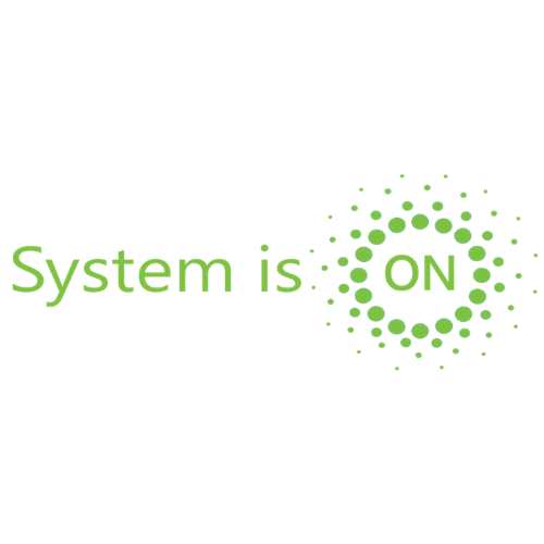 System is on logo